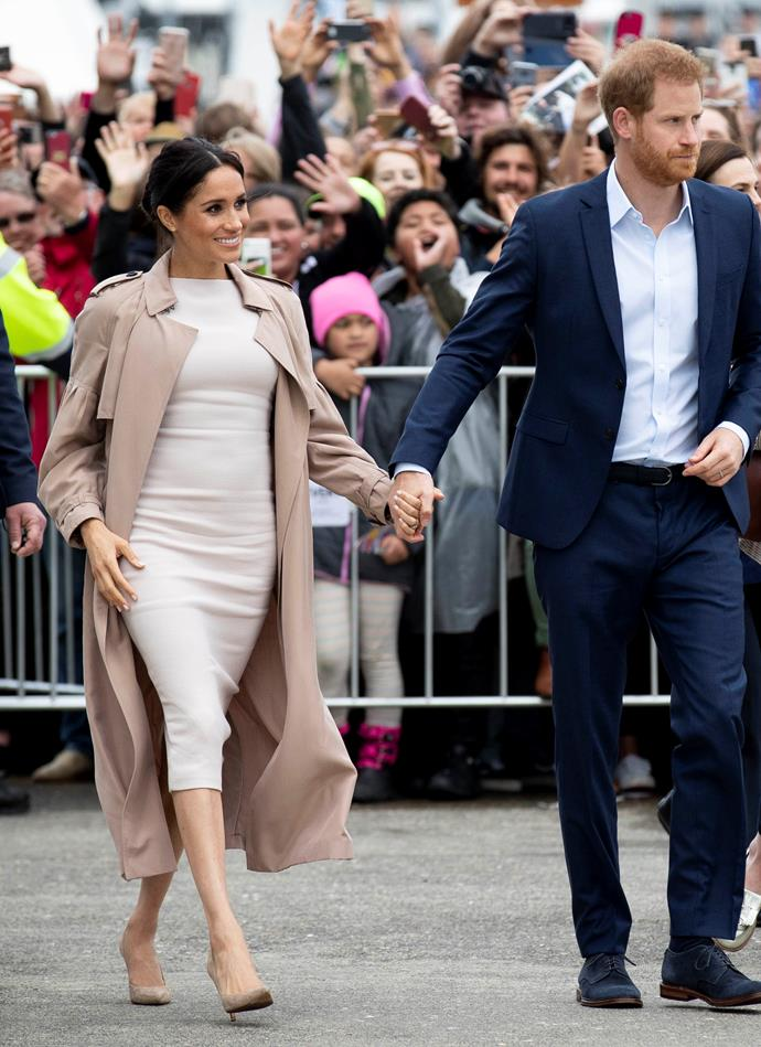 Brandon Maxwell dress: **$2629** <br> Burberry trench coat: **$3,050** <br> Manolo Blahnik BB Pumps: **$936** <br><br> **Total cost: *$6,615***