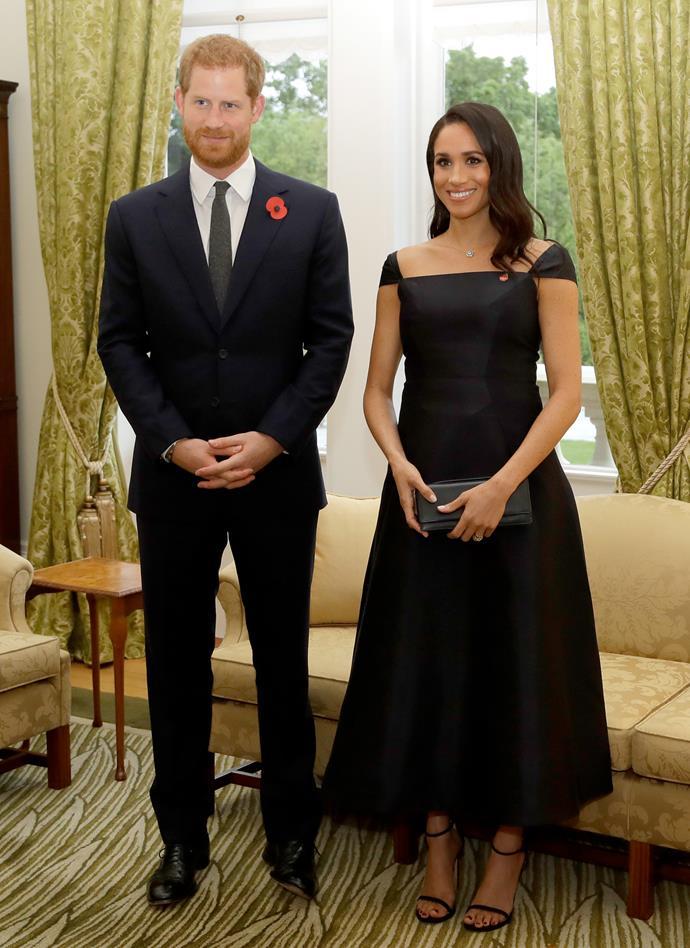 Gabriela Hearst 'Herve' dress: **$3,461** <br> Stuart Weitzman 'Nudist' sandals: **$725** <br><br> **Total cost: *$4,186***