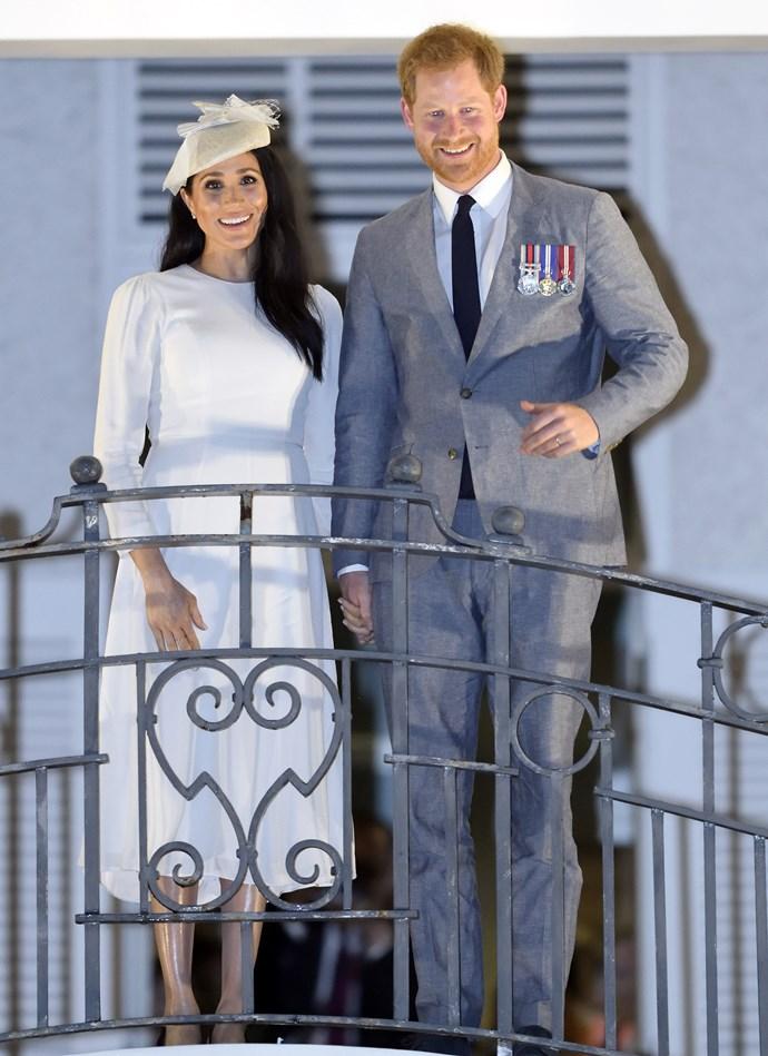 "Custom Zimmermann dress: Estimated at [**$995**](https://www.zimmermannwear.com/readytowear/fleeting-pintuck-dress-pearl.html|target=""_blank""|rel=""nofollow"") <br> Stephen Jones millinery hat: (Price unknown) <br> Tabitha Simmons 'Millie' sandals: **$795** <br> Kayu 'Anna' straw clutch: **$159** <br><br> **Total cost: *$1,949 (estimated)***"