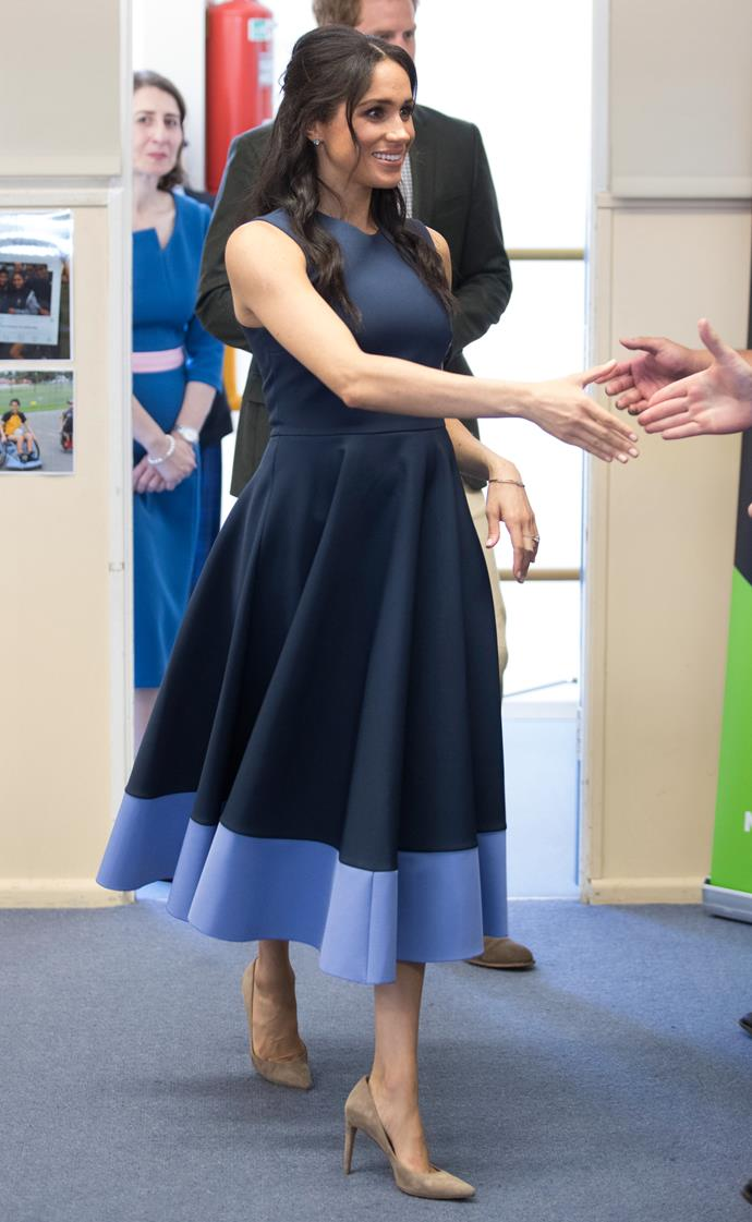Roksanda dress: **$3,325** <br> Stuart Weitzman 'Legend' pumps: **$571** <br><br> **Total cost: *$3,896***