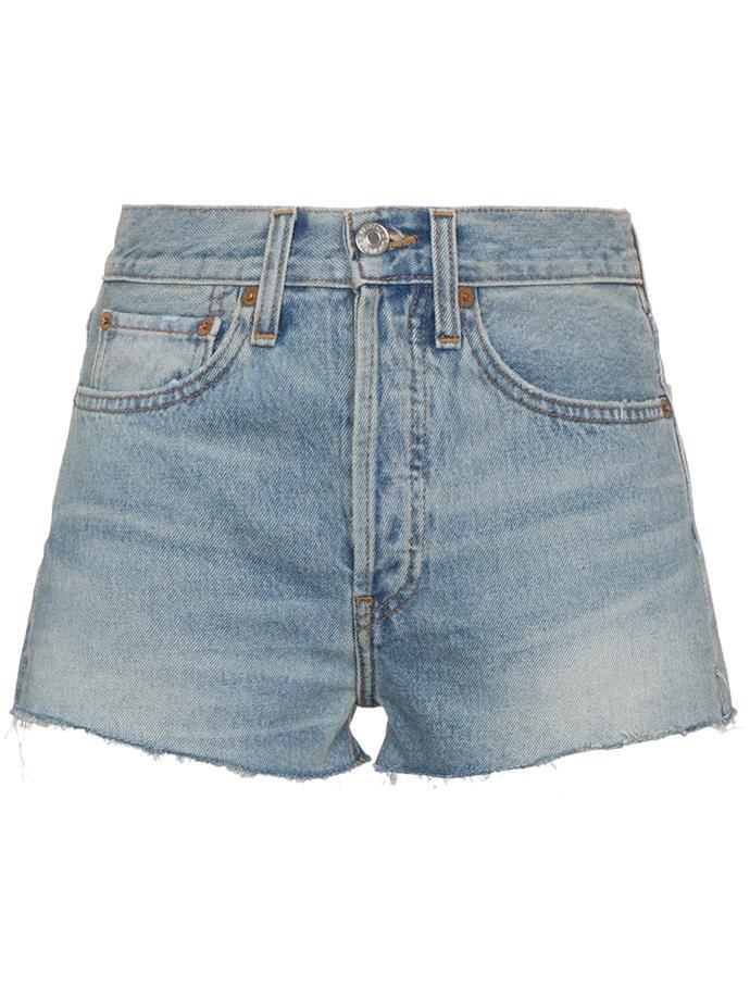 "High waisted shorts by Re/Done, $312 at [Farfetch](https://www.farfetch.com/au/shopping/women/redone-high-waisted-shorts-item-12472180.aspx?storeid=9359 target=""_blank"" rel=""nofollow"")."