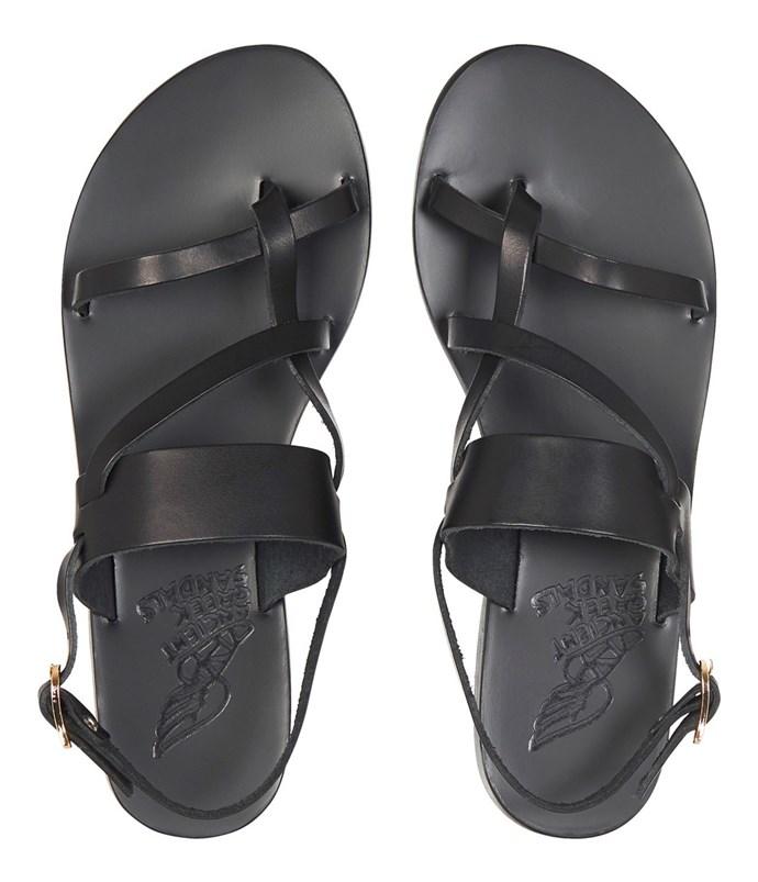 "Sandals by Ancient Greek Sandals, $269 at [Mode Sportif](https://www.modesportif.com/shop/product/ancient-greek-sandals-aletha-sandal-in-black/|target=""_blank""|rel=""nofollow"")."