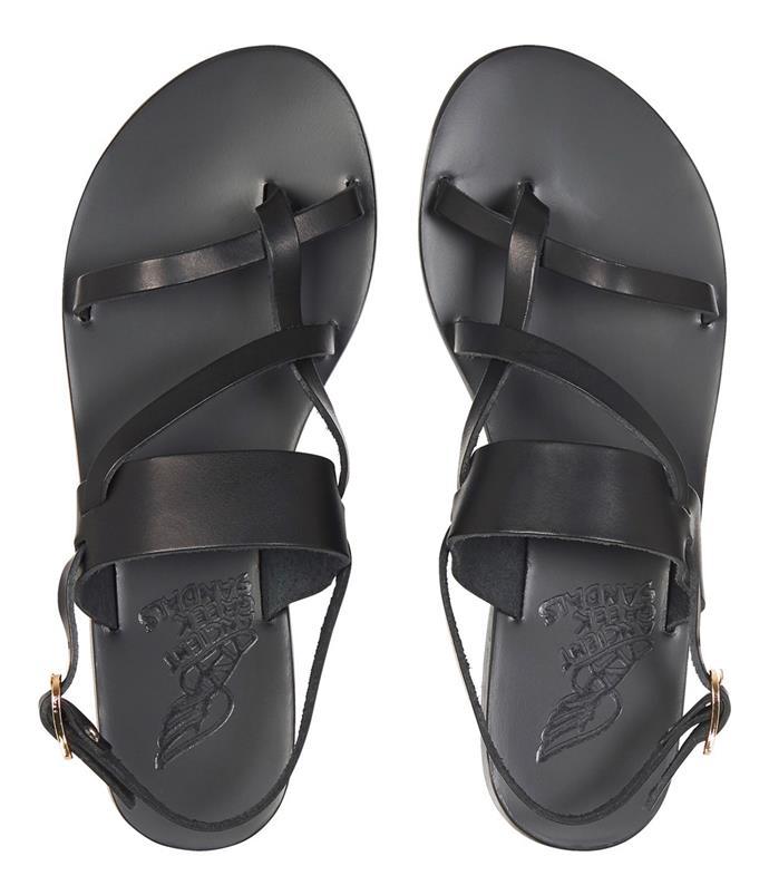 "Sandals by Ancient Greek Sandals, $269 at [Mode Sportif](https://www.modesportif.com/shop/product/ancient-greek-sandals-aletha-sandal-in-black/ target=""_blank"" rel=""nofollow"")."