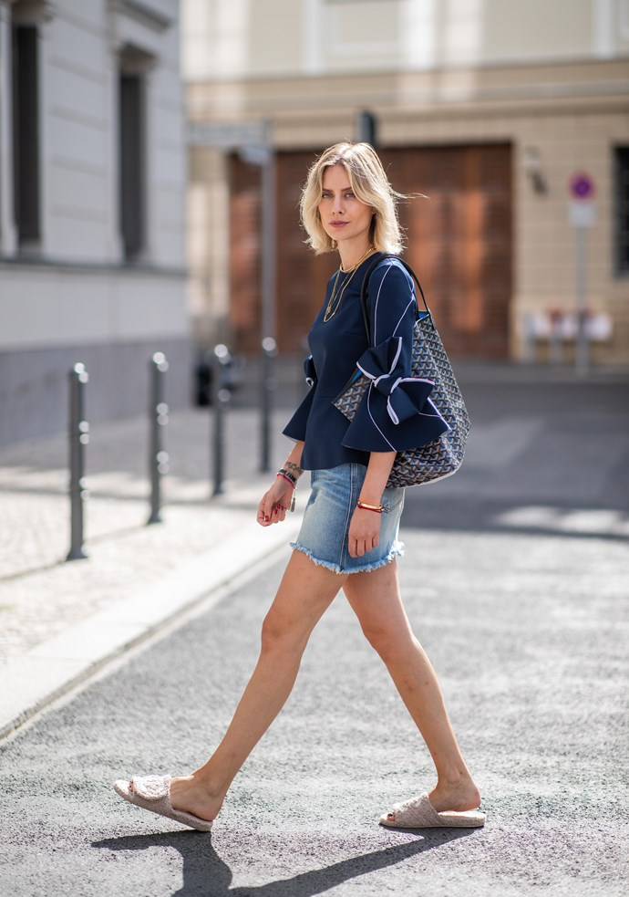 <p><strong>Darwin: Mostly sunny, 25°C–36°C</strong> <p>With high heat on the horizon, go for a denim skirt to cool off your legs. Add a blouse for a festive twist and statement sandals.