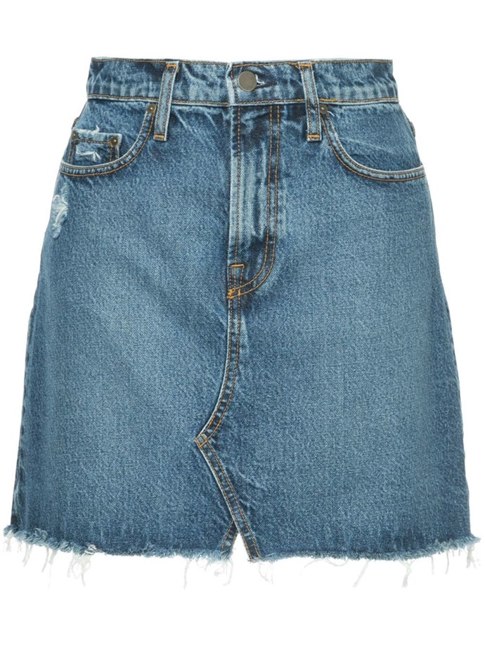 "Denim skirt by Nobody Denim, $159 at [Farfetch](https://www.farfetch.com/au/shopping/women/nobody-denim-piper-skirt-familiar-item-12589783.aspx?storeid=9964|target=""_blank""|rel=""nofollow"")."