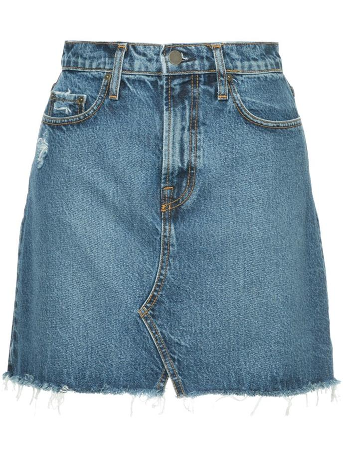 "Denim skirt by Nobody Denim, $159 at [Farfetch](https://www.farfetch.com/au/shopping/women/nobody-denim-piper-skirt-familiar-item-12589783.aspx?storeid=9964 target=""_blank"" rel=""nofollow"")."