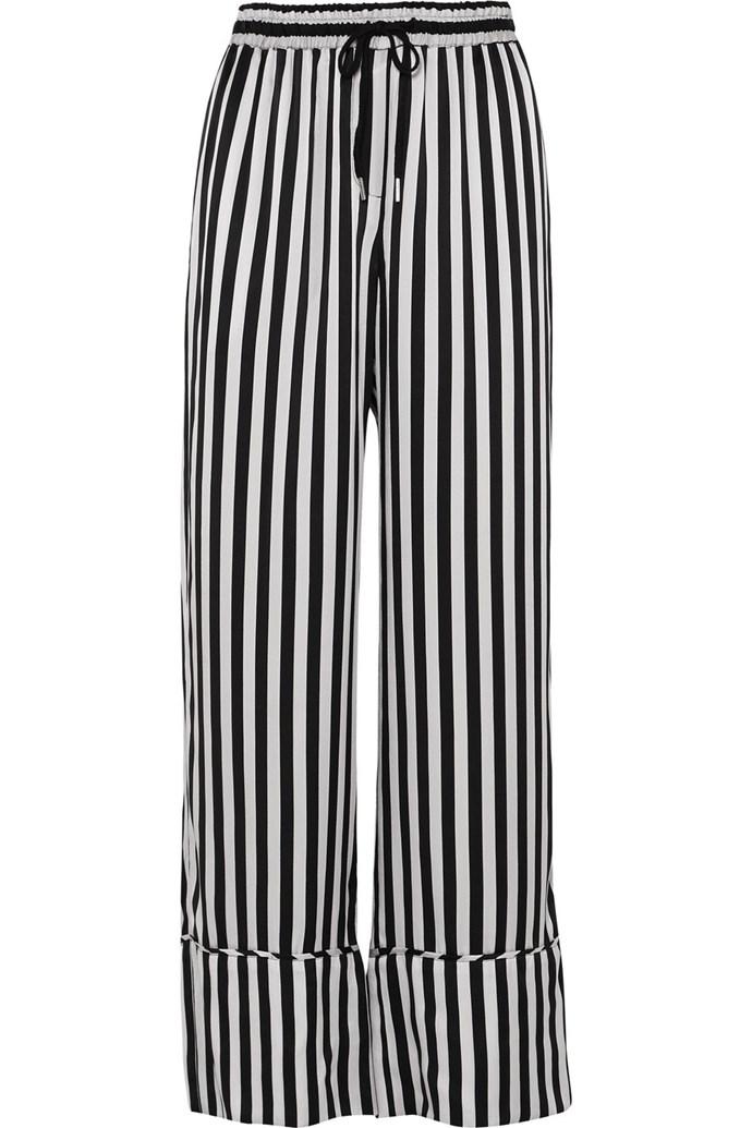 "Silk-satin wide-leg pants by Lee Mathews, $410 at [Net-a-Porter](https://www.net-a-porter.com/au/en/product/1066884|target=""_blank""|rel=""nofollow"")."