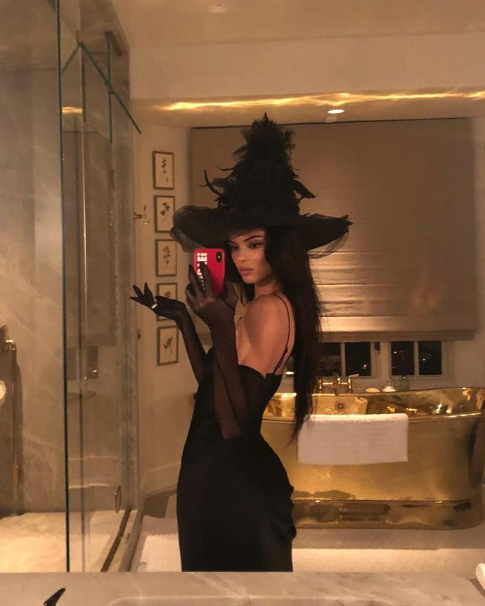 Kendall Jenner as a witch.