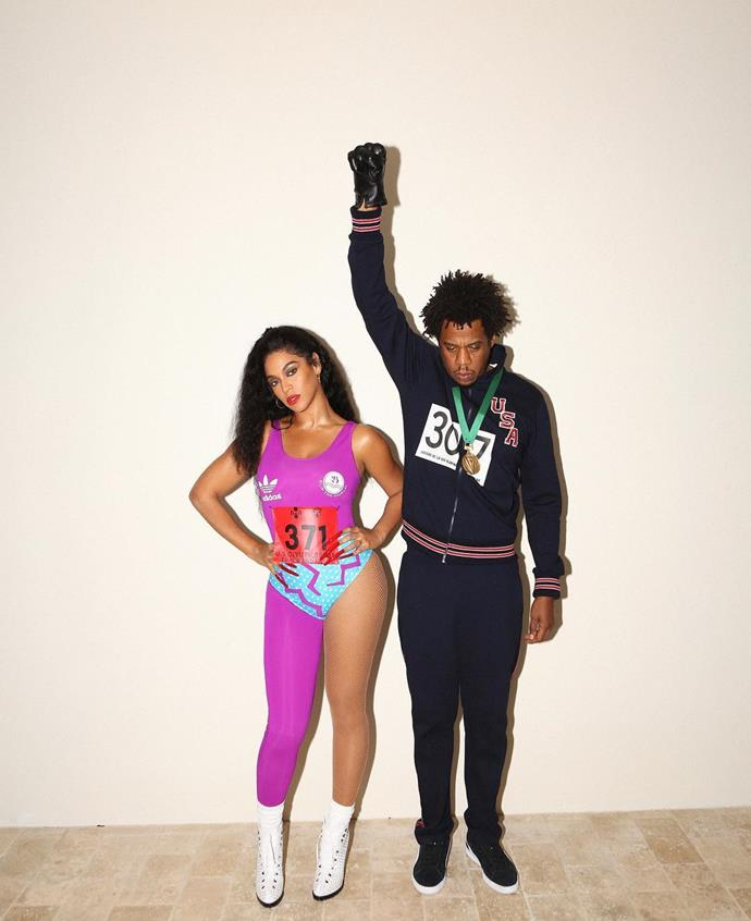 Beyoncé as Florence Griffith Joyner and Jay-Z as Tommie Smith.