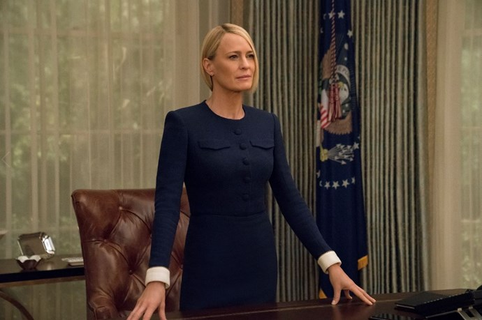 ***House of Cards*: Season 6 (2/11/2018):** With Frank out of the picture, Claire Underwood steps fully into her own as the first woman president, but faces formidable threats to her legacy.
