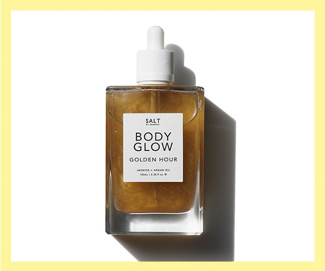 "This new, Australian-made, vegan beauty brand is already making a name for itself on people's feeds—and we can see why. With minimalist packaging, cute names and effective products, it gets our vote, too. Our pick? This golden body oil that will leave summer skin with a subtle shimmer. <br><br> Body Glow by Salt by Hendrix, $39.95 at [Gritty Pretty](https://shop.grittypretty.com/salt-by-hendrix-body-glow-golden-hour|target=""_blank""