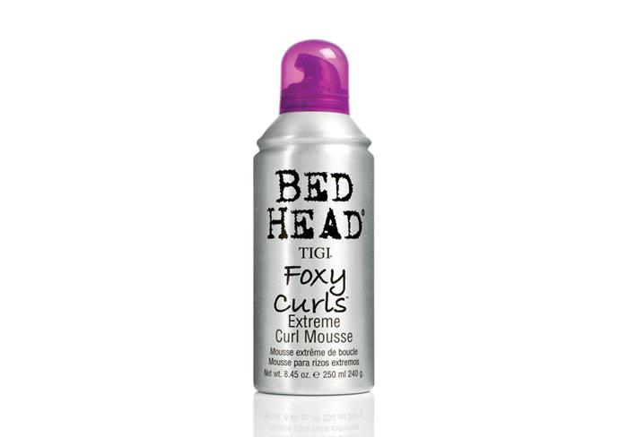 """**The scrunch** <br><br> **Try**: Bed Head Foxy Curls Extreme Curl Mousse by Tigi, $31 at [Price Attack](https://www.priceattack.com.au/products/bed-head-foxy-curls-extreme-curl-mousse