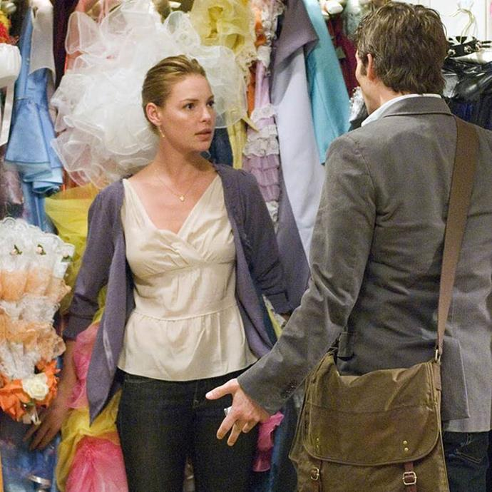 "***27 Dresses:*** ""Always a bridesmaid, never a bride,"" is a saying Katherine Heigl's character Jane can very much relate to. So when does she get her own turn to tie the knot? When the handsome James Marsden strolls into her life, of course."