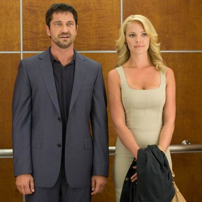 ***The Ugly Truth:*** Rom-Com regular Katherine Heigl stars alongside Gerard Butler as a love-challenged TV producer who must employ the tactics of a pig-headed romance cynic (Butler) to win over her latest love interest.