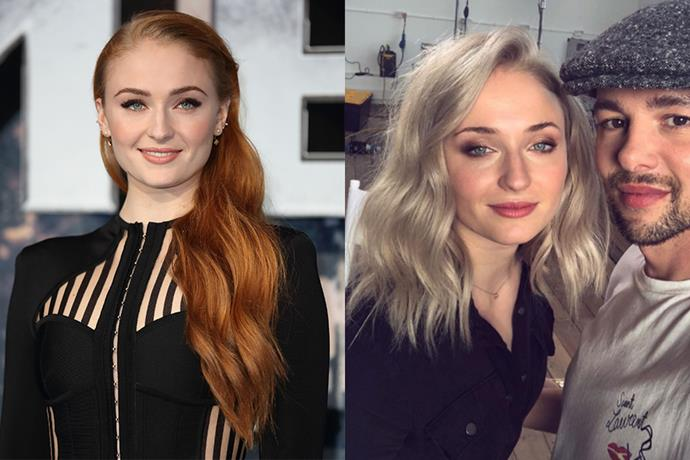 **Sophie Turner** <br><bR> Closing the chapter on Sansa Stark, Sophie said goodbye to her iconic red by going silvery blonde.