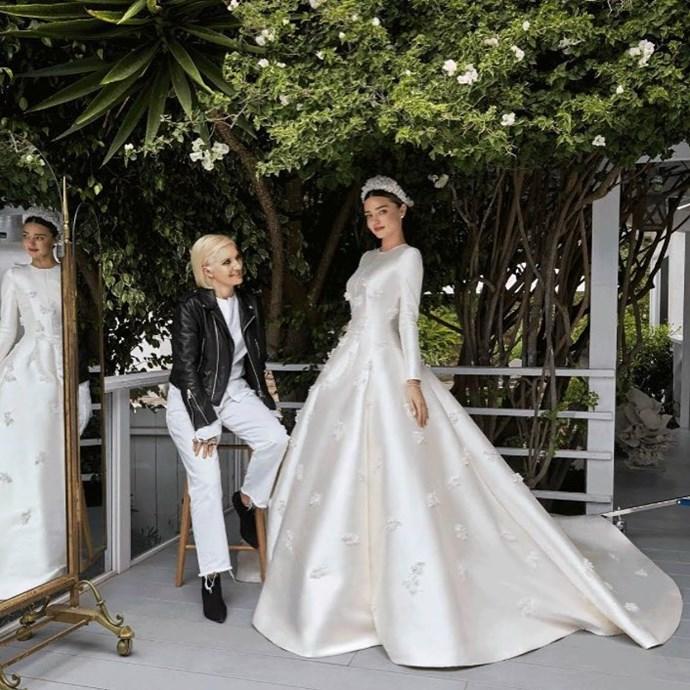 **Miranda Kerr** <br><br> Married: Evan Spiegel  <br><br> Wearing: Dior by Maria Grazia Chiuri