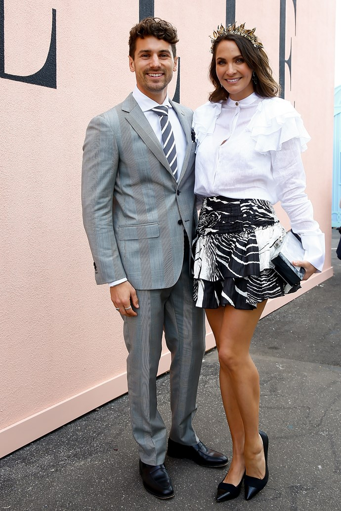 Matty J and Laura Byrne at Derby Day.