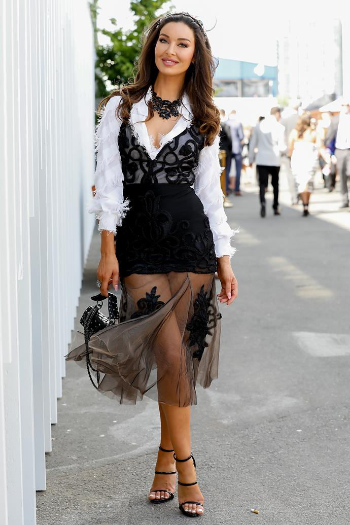 Laurina Fleure at Derby Day.
