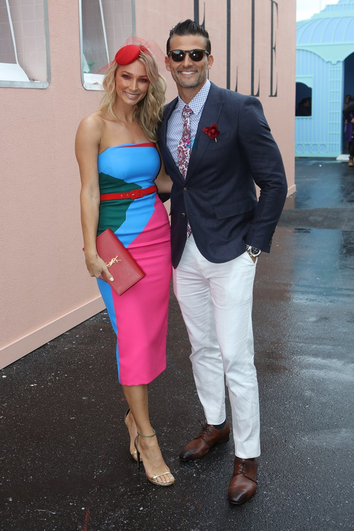 Anna Heinrich and Tim Robards at the Melbourne Cup.