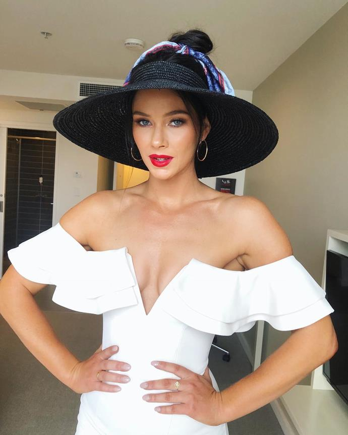 Brittany Hockley's look for Derby Day.
