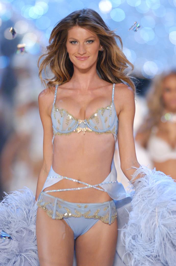 Gisele Bündchen on the Victoria's Secret runway in 2003.