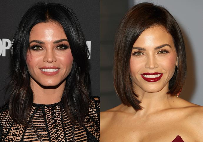 **Jenna Dewan:** After her 2017 split from ex-husband Channing Tatum, Dewan re-emerged with a razor-edged bob and a refreshed beauty look.