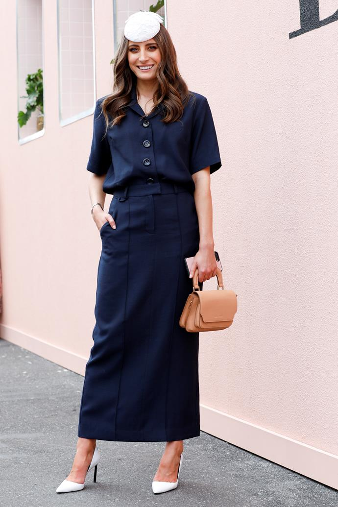 **Susannah Guthrie, Digital Content Director:** Rebecca Harding in navy Viktoria and Woods for Oaks Day was a really unexpected moment in my opinion. She waived the usual pinks, florals and frills for something sophisticated and a little *Mad Men* and it was perfect.