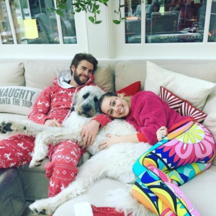 """***Miley Cyrus and Liam Hemsworth*** <br><br> Miley Cyrus took to [Twitter](https://twitter.com/MileyCyrus/status/1061863569929584641