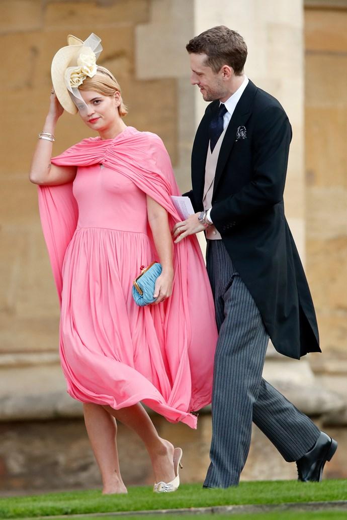 Pixie Geldof in Phoebe Philo's Céline at the wedding of Princess Eugenie.