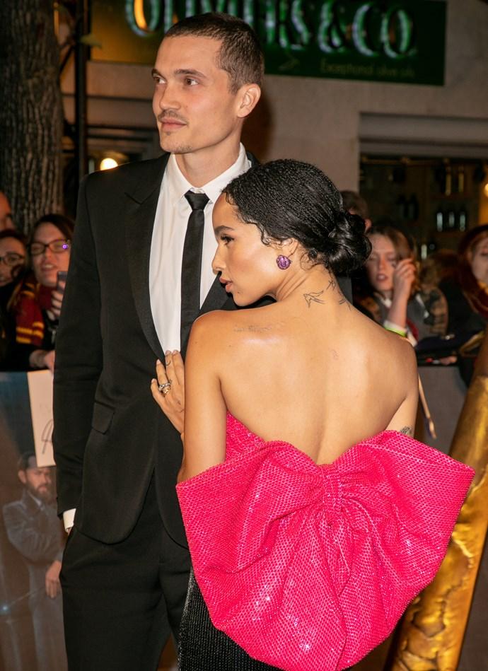 Zoë Kravitz at the premiere of *Fantastic Beasts: The Crimes of Grindelwald* in Paris.
