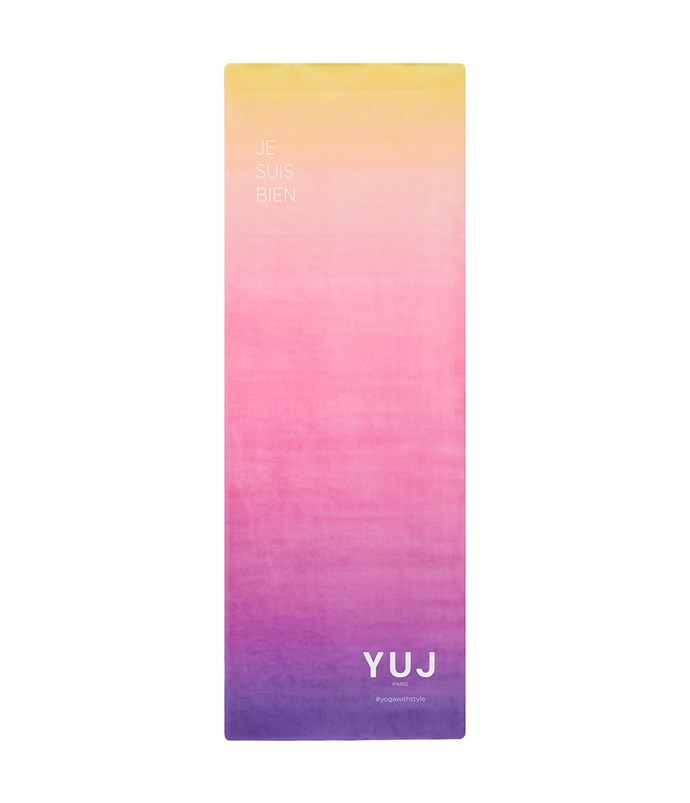 "Lightweight and beautifully coloured, Yuj's yoga mat is style *and* substance. <br><br> Yuj Yoga Mat in Gradient by Yuj Paris, $135 at [Mode Sportif](https://www.modesportif.com/shop/product/yuj-paris-yuj-yoga-mat-in-gradient/|target=""_blank""