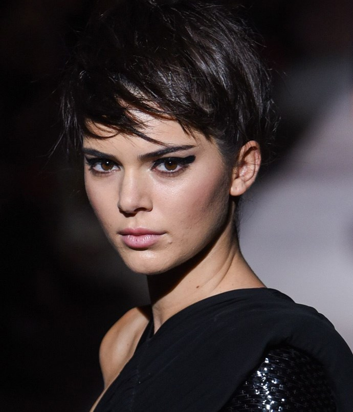 <strong>Heart</strong>: <br><br> Kendall Jenner has a broad forehead, round cheeks and a pointed chin—a classic heart-shaped face. Her newly cropped 'do was a dramatic change from her longer locks, but she's kept her look feminine with a jaunty fringe and layering around the ears.