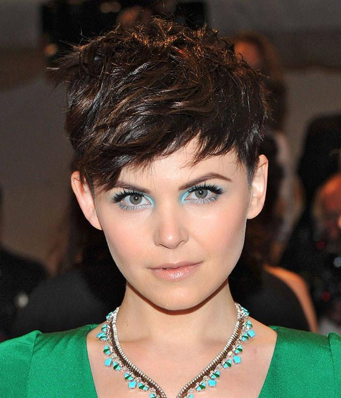 "<strong>Round</strong>:  <br><br> ""Short, back and sides"" is usually reserved for the barbershop, but this style suits those with a rounder face. By staying away from a longer bob, Ginnifer Goodwin has avoided a top heavy, bobblehead look, which no one should ever be subjected to."