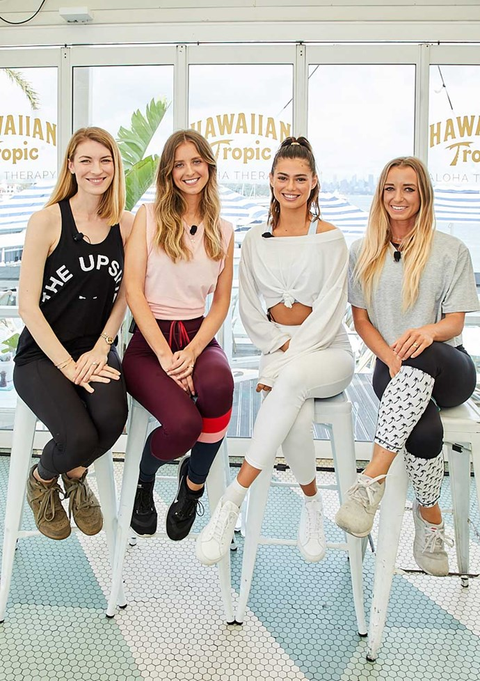 Panellists (L-R): *ELLE*'s Beauty & Wellness Director Janna Johnson O'Toole, *ELLE*'s Digital Content Director Susannah Guthrie, blogger Ashton Wood and dietitian and nutritionist Rebecca Gawthorne.