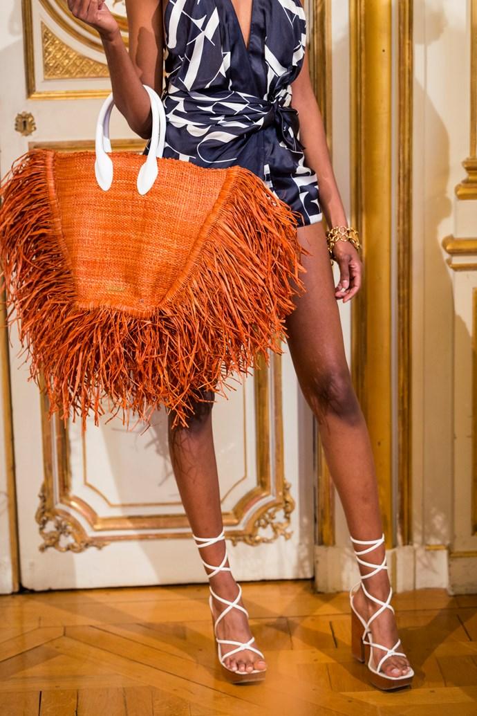 The Jacquemus Le Grand Baci Raffia Bag.
