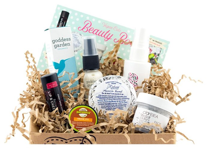 """***Vegan Cuts Beauty Box*** <br> For all those with sustainability on their minds, Vegan Cuts offers ethical beauty boxes brimming with smaller, vegan-friendly brands. Their Beauty Box is a highlight—it only selects products with a certifiably sustainable ethos. <br><br> *Shop at: [Vegan Cuts](https://vegancuts.com/beautybox target=""""_blank"""" rel=""""nofollow"""")*"""