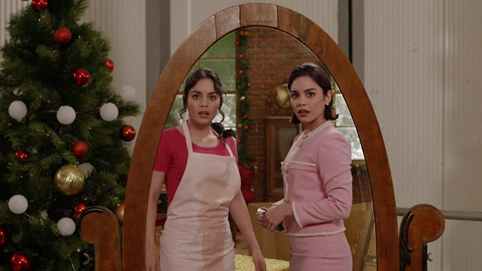 """***The Princess Switch:*** Brace yourselves for the answer to that *Princess Diaries*-sized gap in your life. Disney favourite Vanessa Hudgens has delivered the chick flick of your dreams with this winner, which sees her pull a *Parent Trap* and play not one, but two characters. The plot, according to Netflix: """"Margaret, the gorgeous Duchess of Montenaro, switches places with Stacy, a 'commoner' from Chicago, who looks exactly like her. With the assistance of a magical Santa's helper, Margaret falls in love with Stacy's handsome co-worker, while Stacy falls in love with Margaret's fiance, the dashing Prince."""""""