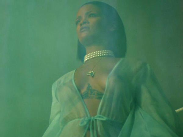 **2016:** In a sheer robe for the *Needed Me* music video.