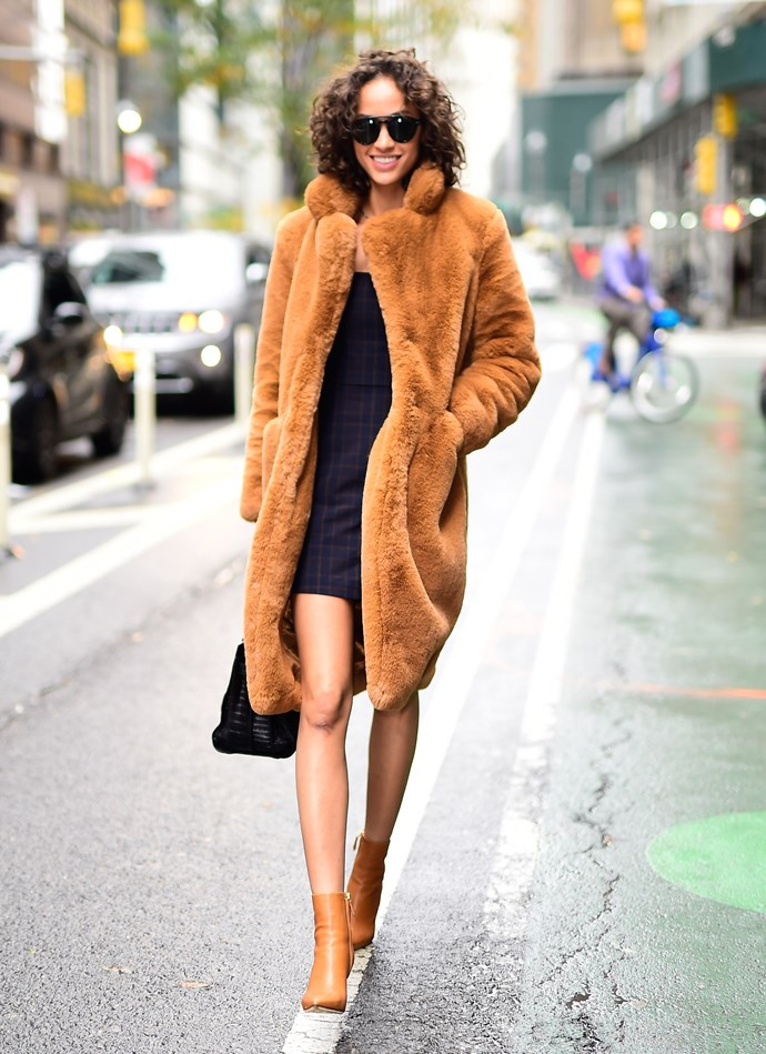 Though Australia might be warming up, Alanna Arrington's heavenly take on the OTT teddy coat is one to keep in mind come winter 2019.