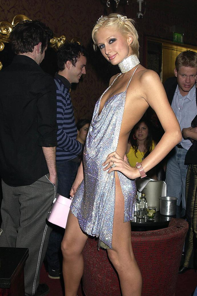 Hilton at her 21st birthday party in London in 2002.