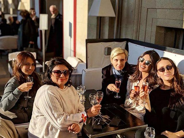 "***November 19:*** Chopra also shared a picture to Instagram with her mother and three close friends in Paris, enjoying what appears to be a more low-key wedding shower. <br><br> *Image: [@priyankachopra](https://www.instagram.com/p/BqU2yvmnkPo/|target=""_blank""