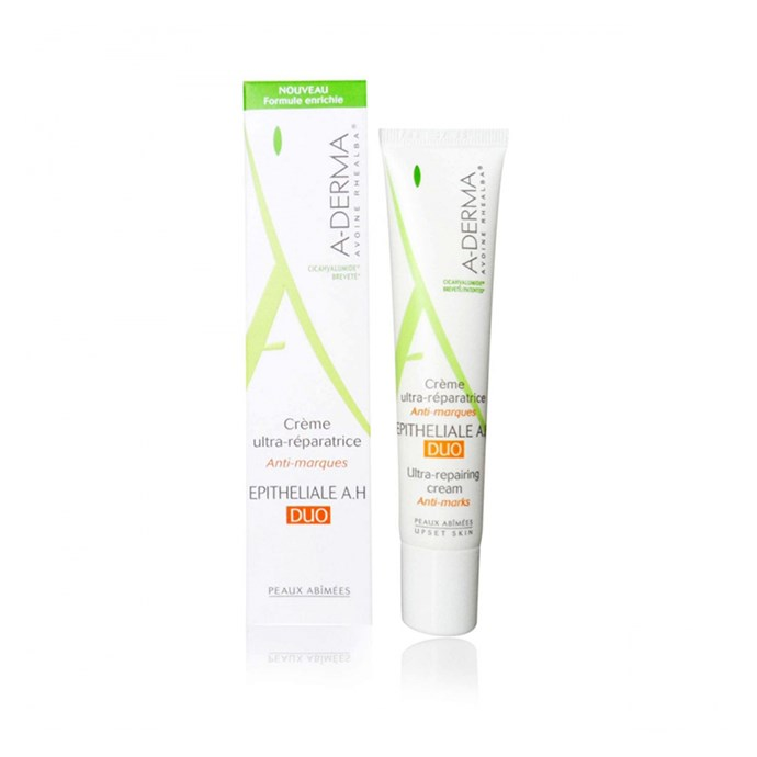 *A-Derma Epitheliale A.H Repairing Cream*<br><Br> Using rhealba oat and hyaluronic acid, this cream heals, protects and repairs blemishes and marks.