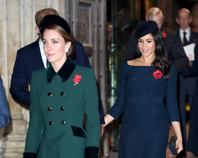 Kate Middleton and Meghan Markle together on Remembrance Day, November 11.