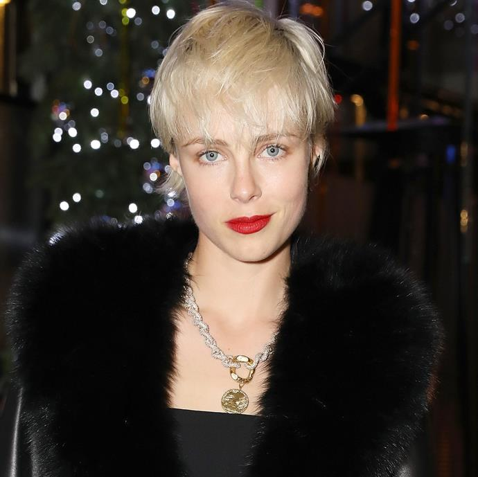 "**The soft pixie:** ""If a very short length feels a bit extreme, a pixie cut worn long enough to tuck behind the ears with some softness in the neck will help you feel less exposed,"" Martin advises. Make like model Edie Campbell (pictured) and embrace ""graphic cuts with some softness"", Martin says."