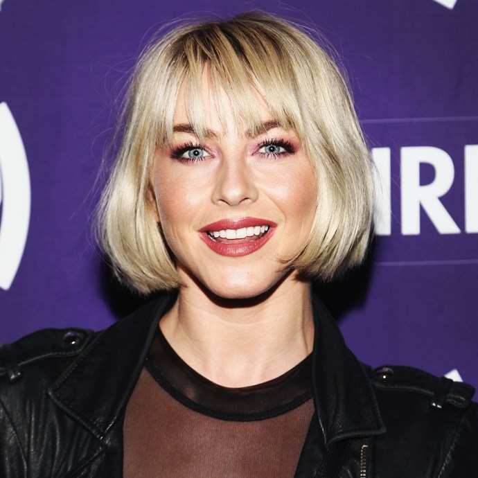 **The flapper look:** It's not for everyone, but Julianne Hough's blunt, ear-lobe length bob and fringe requires very little maintenance to look super chic.