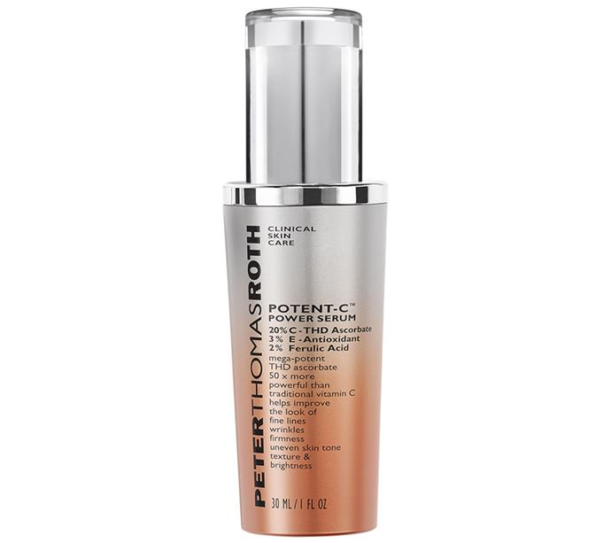 "Peter Thomas Roth Potent-C Power Serum, $133, at [Sephora](https://www.sephora.com.au/products/peter-thomas-roth-potent-c-power-serum/v/default|target=""_blank""