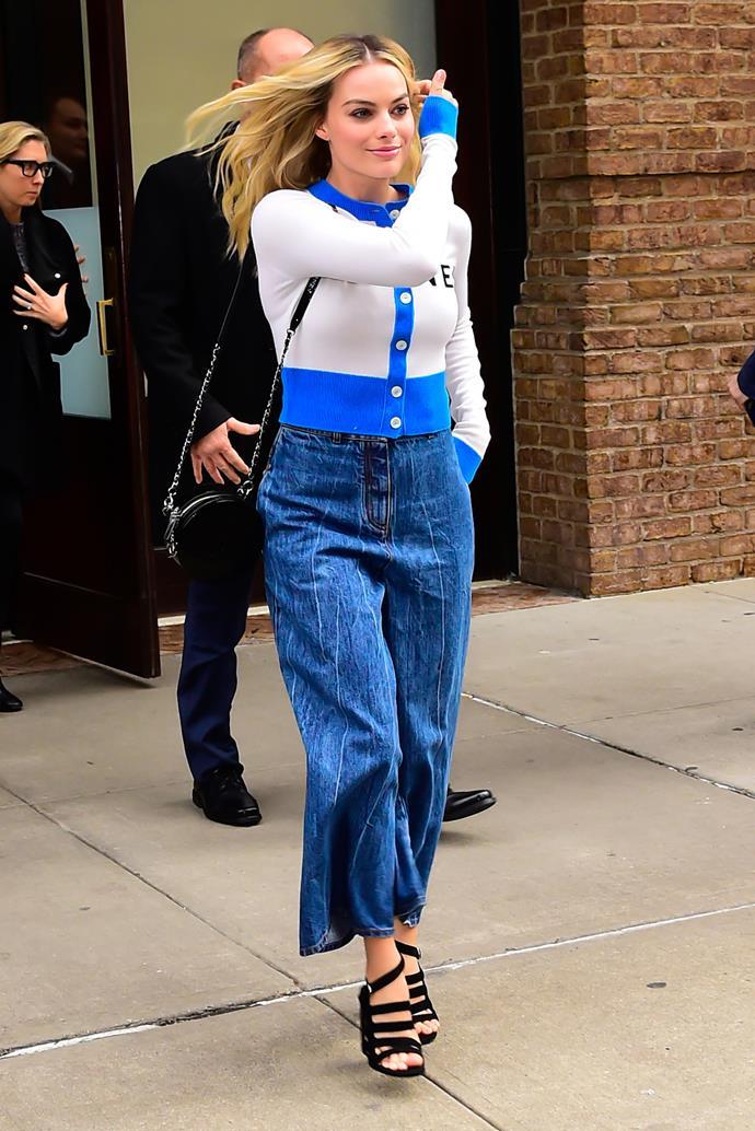 Margot Robbie in New York City on December 3, 2018.