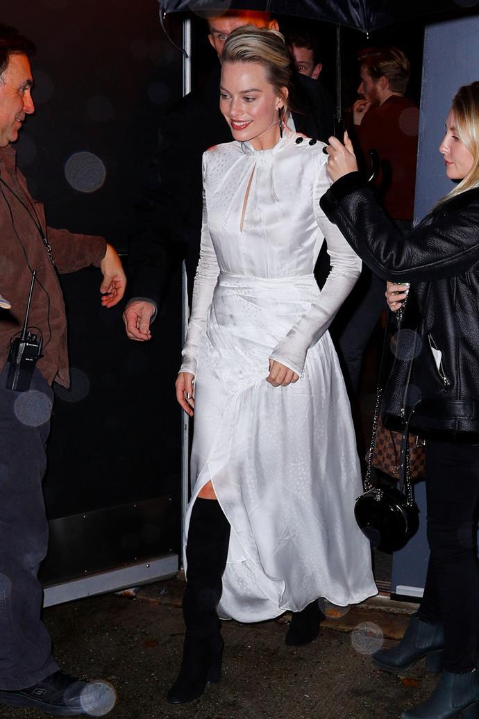 Margot Robbie in New York City on December 2, 2018.