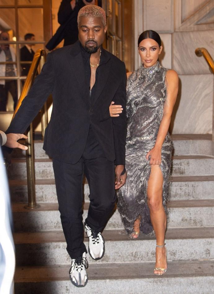 Kim Kardashian West and Kanye West in New York on December 3, 2018.