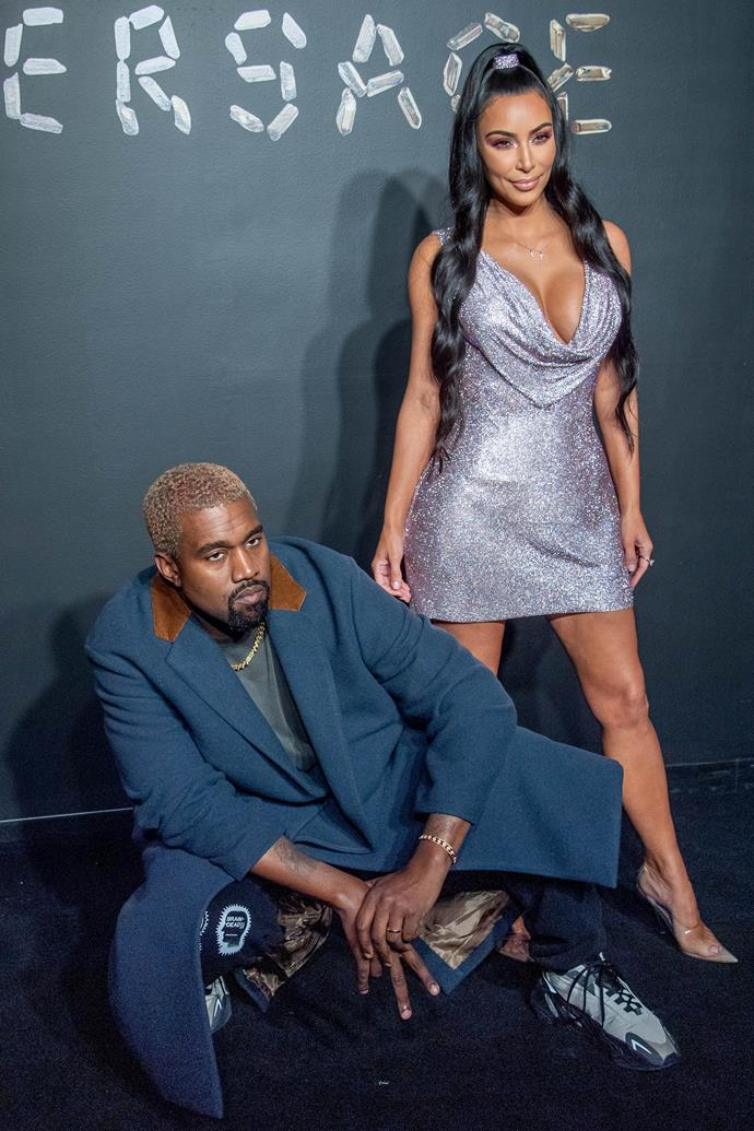 KIM KARDASHIAN West AND KANYE WEST AT THE VERSACE PRE-FALL '19 SHOW IN NEW YORK, DECEMBER 3 2018.